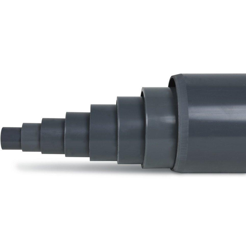 TUBO RIGIDO IN PVC A INCOLLARE /Ø 25 MM LUNGHEZZA 1MT PER LAGHETTO STAGNO PISCINA